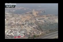 تصاویر هوایی از بیروت  یک ماه از پس انفجار