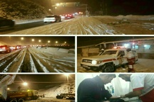 ۷۱  رهاسازی از برف توسط هلال احمر البرز