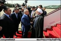 مراسم استقبال رسمی از دکتر روحانی در کاخ ریاست جمهوری آذربایجان / مذاکرات مشترک و امضای اسناد همکاری