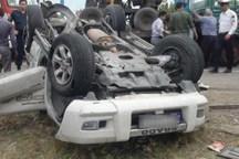 واژگونی پرادو جان راننده بدون گواهینامه را گرفت