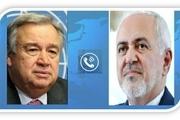 سومین گفت و گوی ظریف با دبیرکل سازمان ملل در دو هفته اخیر
