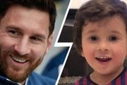 ویدیو/ واکنش خنده دار پسر مسی بعد از گلزنی پدرش