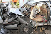 انفجار خودروی در جایگاه سوخت یک کشتخه برجای گذاشت
