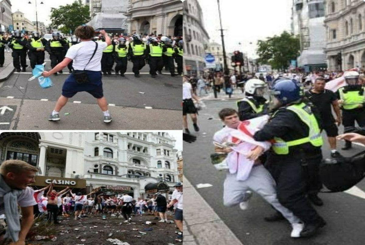 فینال یورو2020 ، 19 پلیس را مصدوم کرد