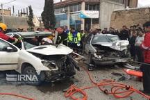 تصادف 2 خودرو در بجنورد مصدومیت رانندگان را درپی داشت