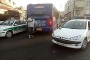 تصادف مرگبار موتورسوار با اتوبوس خط ویژه+ تصاویر