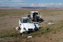 واژگونی خودرو در اردستان یک کشته و چهار مصدوم داشت