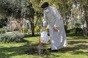 تصاویر/ رییس قوه قضاییه در مراسم روز درختکاری