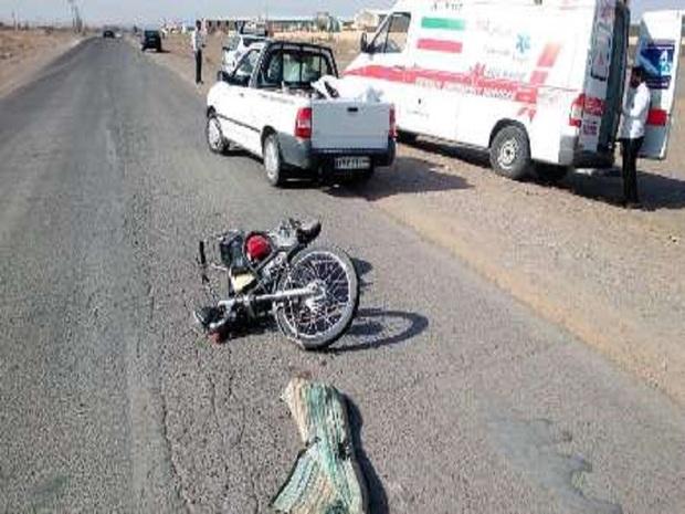 برخورد موتور و وانت در تربت جام یک کشته بر جای گذاشت