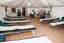بیمارستان صحرایی در نقده راه اندازی شد