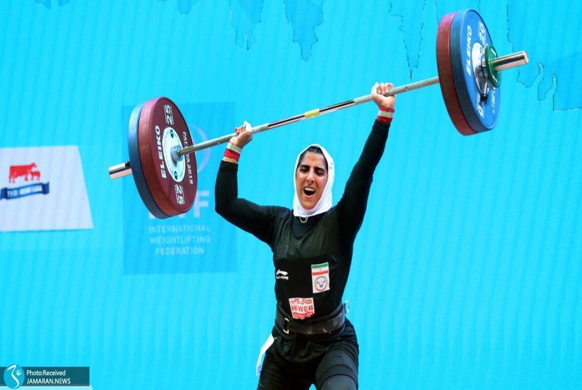 داستان رکورد جنجالی وزنهبردار زن ایران چیست؟ +ویدیو