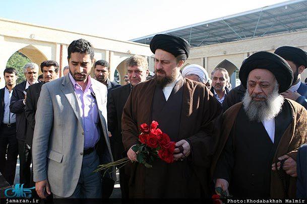 فیلم/ حضور یادگار امام در گلزار شهدای آبادان