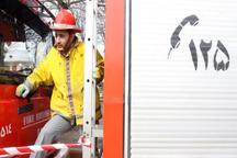 2 آتش نشان در اطفای حریق چهار واحد مسکونی رشت مصدوم شدند