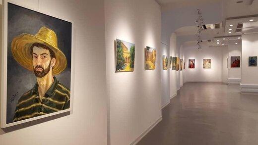 نمایشگاه آثار نقاشی هومن شکیبا در سنندج افتتاح شد