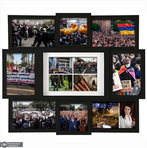 2020؛ سال اعتراضات+تصاویر