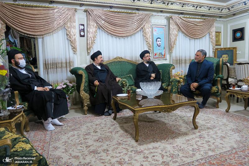 حضور سید حسن خمینی در منزل مرحوم حاج محمد عرب