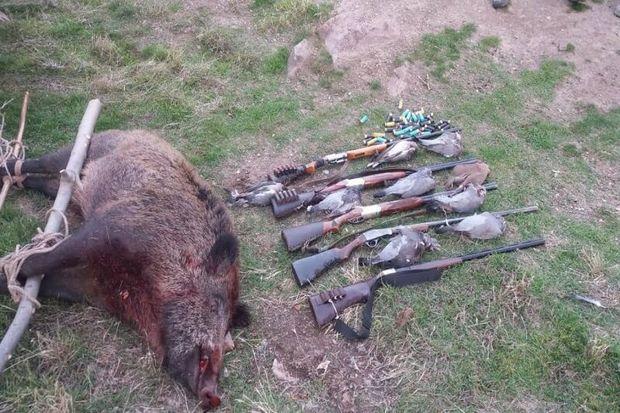 پنج شکارچی غیرمجاز در الموت قزوین دستگیر شدند