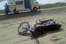برخورد خودرو با موتورسیکلت در سبزوار یک کشته داشت