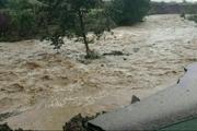 افزایش دبی رودخانه های فصلی و آبگرفتگی معابر در ماژین