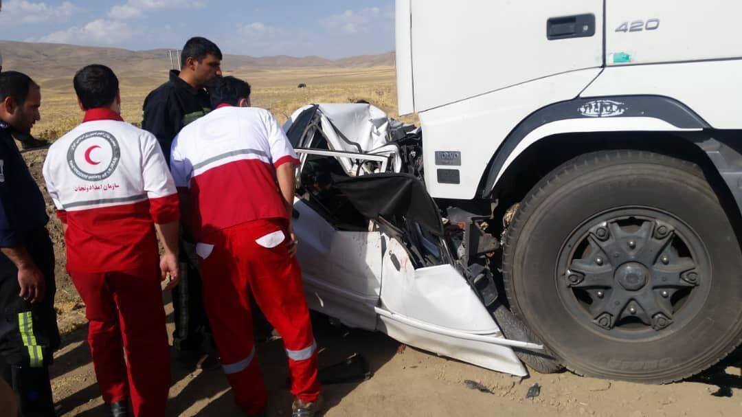 هشت نفر کشته بر اثر تصادف پراید در جاده بافق