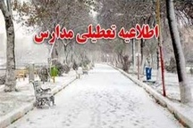 کلیه مدارس منطقه بلده و شهرستان کلاردشت دوشنبه تعطیل می باشد