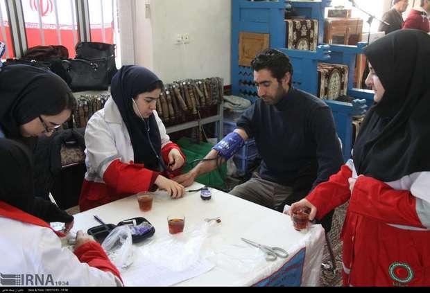 تیم های داوطلب هلال احمر در مناطق محروم حضور یافتند
