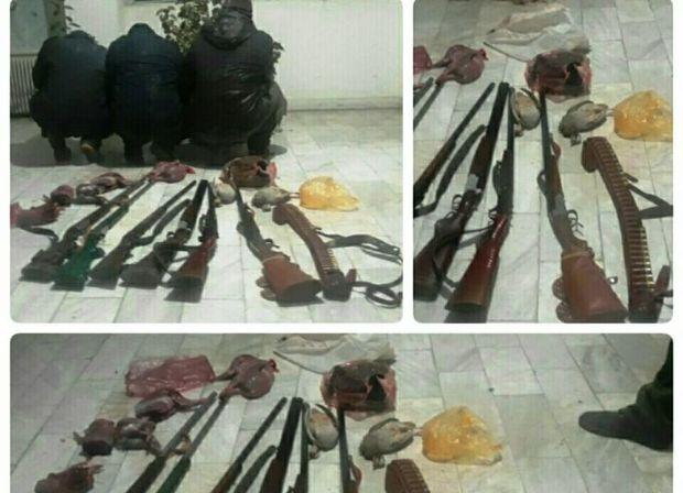 هفت شکارچی غیرمجاز در سلسله دستگیر شدند