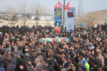 پیکر مطهر 2 شهید گمنام در خمین تشییع شد