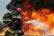 آتش سوزی یک ساختمان نیمه کاره در پونک تهران مهارشد