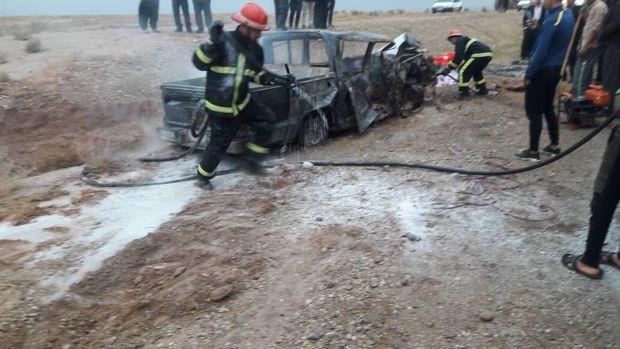 تصادف در جاده اهواز - مسجد سلیمان پنج کشته بر جا گذاشت