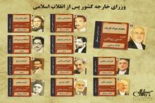 اینفوگرافی   وزیران خارجه جمهوری اسلامی ایران