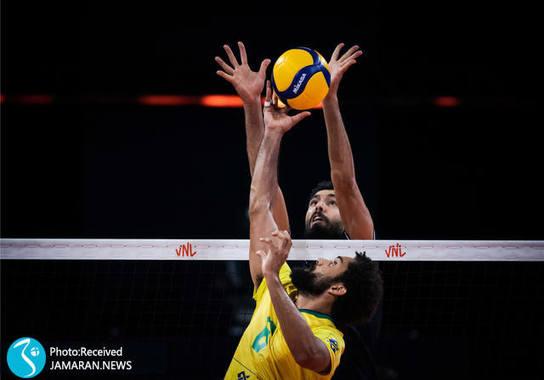 محمد موسوی تیم ملی والیبال ایران - لیگ ملت های والیبال 2021- والیبال ایران و برزیل