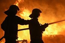 بیمارستان تاریخی مسیح کرمانشاه آتش گرفت