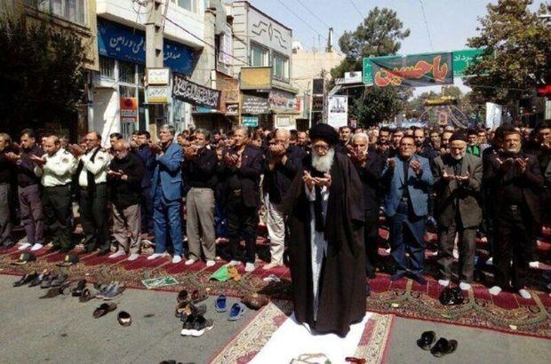 عزاداران حسینی در دشت ورامین نماز ظهر عاشورا را به جماعت اقامه کردند