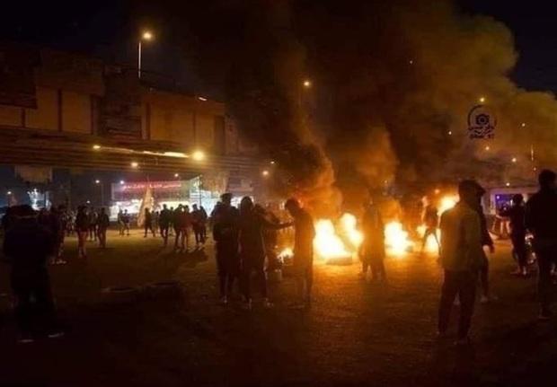 اعتراضات در الناصریه عراق با یک کشته و 33 زخمی + فیلم و تصاویر