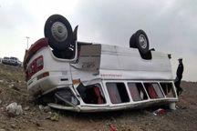 واژگونی مینیبوس در محور تبریز- آذرشهر ۱۶ مصدوم برجای گذاشت