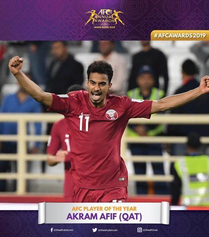پوستر AFC به مناسبت انتخاب اکرم عفیف به عنوان مرد سال 2019/ عکس
