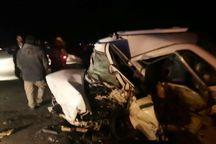 یک کشته و ۲ زخمی پیامد تصادف برون شهری در بافق