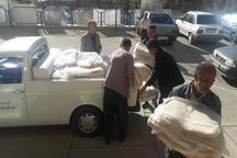 130 تن اقلام امدادی مردم تکاب به مناطق زلزله زده کرمانشاه ارسال شد