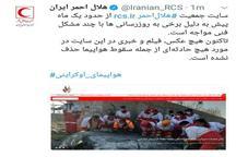 واکنش هلال احمر به ادعای حذف فیلم سقوط هواپیما از سایت این سازمان