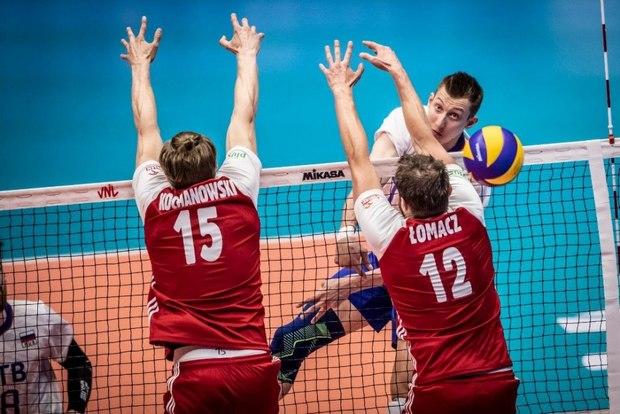 شکست ۳ بر یک والیبال لهستال مقابل روسیه در ارومیه