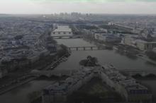 تصاویر پهپادی از پاریس در قرنطینه به دلیل کرونا