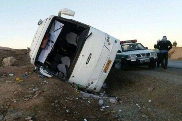 تصادف اتوبوس در البرز یک کشته و ۲۸ مصدوم داشت