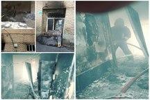 آتش سوزی منزل مسکونی در تبریز اطفاء شد