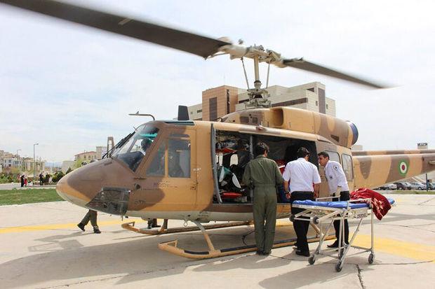 نجات کوهنورد مصدوم با بالگرد اورژانس گلستان