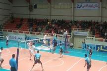والیبال شهرداری تبریز تیم عقاب نهاجا را شکست داد