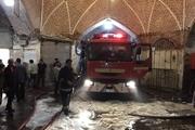 آتش سوزی بلای همیشگی بازار تبریز بی سامانی سیم کشی های موقت بازار