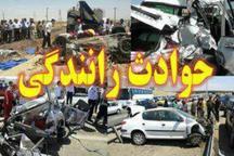 مصدومیت پنج تن براثر برخورد پژو و نیسان در آزادراه قزوین-زنجان