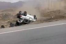 واژگونی خودرو در گیلانغرب یک کشته بر جا گذاشت