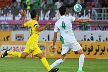 تیم فوتبال نفت مسجدسلیمان برابر ذوب آهن متوقف شد